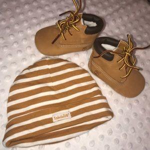 Baby Timberland Booties set- New - Never Worn